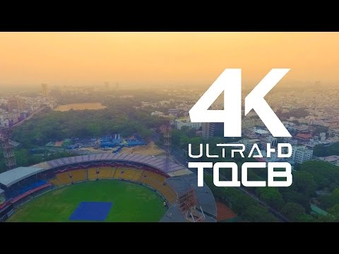 M Chinnaswamy Stadium Bangalore | Bengaluru | Karnataka | India | Stock Footage | Helicam India | 4K