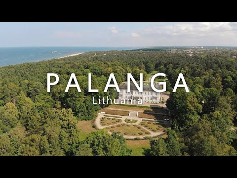 Palanga - Lithuania - Aerial Drone video 4k