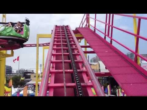 Crazy Mouse Roller Coaster CNE Toronto 2013