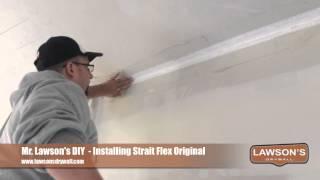Installing Strait Flex Dry wall