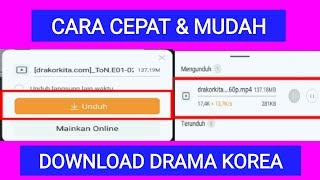 Cara Download Drama Korea dari Hp