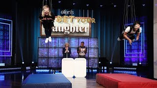"Guest host Kristen Bell was left hanging as she and her mom played against Jamie Foxx and his daughter Corinne in a hilarious round of ""You Bet Your ..."