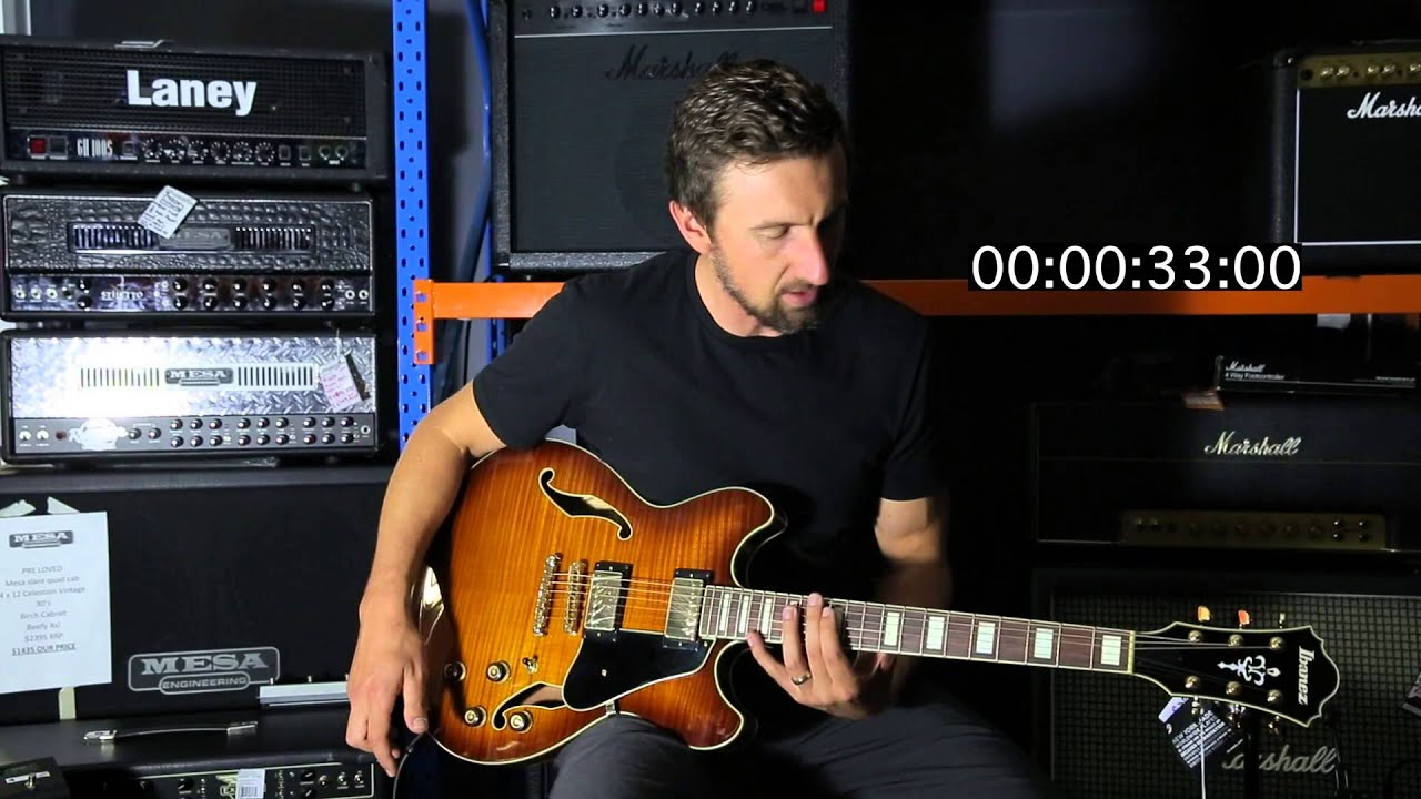ibanez as93 60 second review youtube