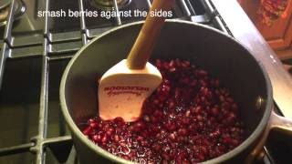 Pomegranate Sauce, A Substitution For Cranberry Sauce