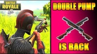 HOW to DO THE DOUBLE PUMP ON FORTNITE ALSO AFTER THE PATCH !!!