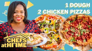 Jerk & Tandoori Chicken Pizzas With 1 Dough | Chefs At Home | Food & Wine