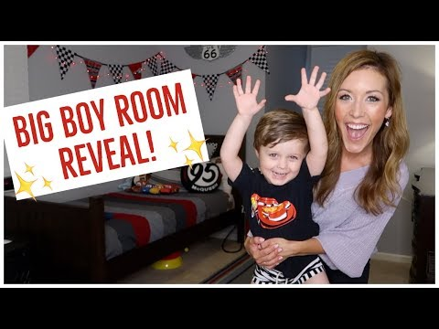 CLEAN + DECORATE WITH ME ✨🛏 | NEW TODDLER ROOM REVEAL + TOUR 2018 🏁🏎 | Brianna K