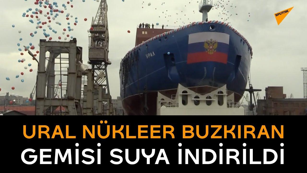 Rusya, yeni nükleer buzkıran gemisi Ural'ı suya indirdi