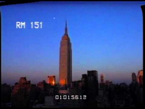 NYC Moon - New York City - Empire State Building - Skyscrapers - Best Shot Footage - Stock Footage
