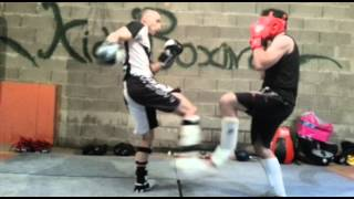 démonstration kick boxing