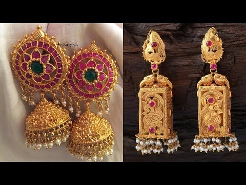 Traditional Gold Jhumka Designs 2018