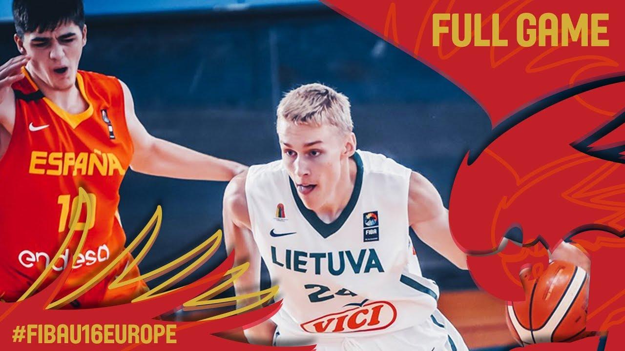 Lithuania v Spain - Full Game - Classification 5-8