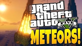 GTA 5 PC Mods - Crazy Meteor Shower Mod! - GTA 5 Funny Moments
