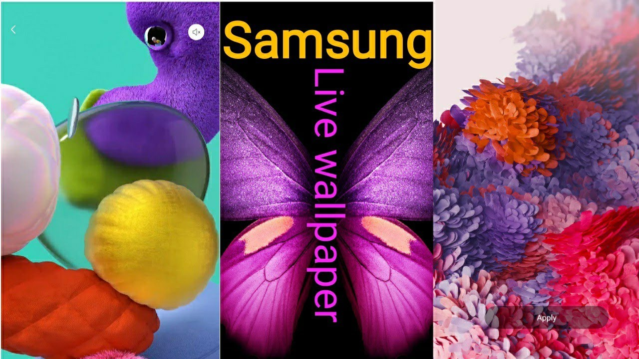 Best Live Wallpaper 2020 Samsung A51 Live Wallpaper Samsung Galaxy Fold Live Wallpaper Youtube