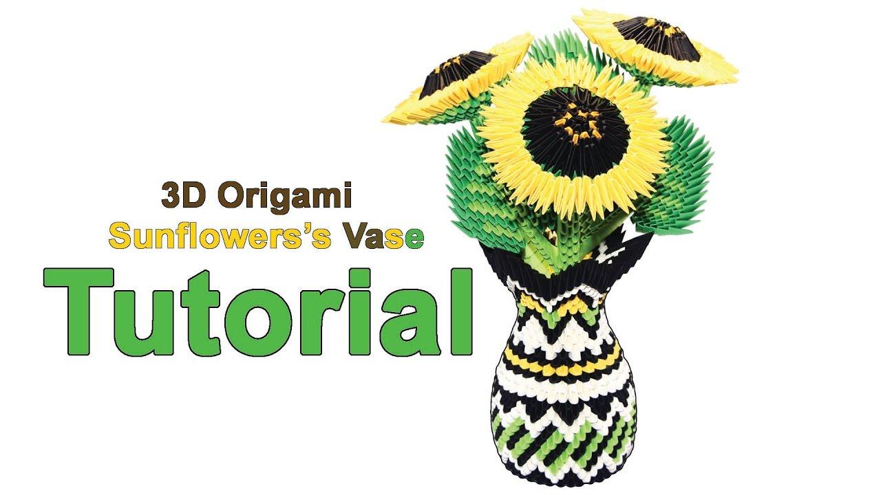 3d Origami Vase Tutorial 6