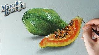 Papaya 3D Drawing