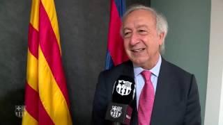 Jordi Renom, a Barça TV parlant del projecte 'Espai Barça'