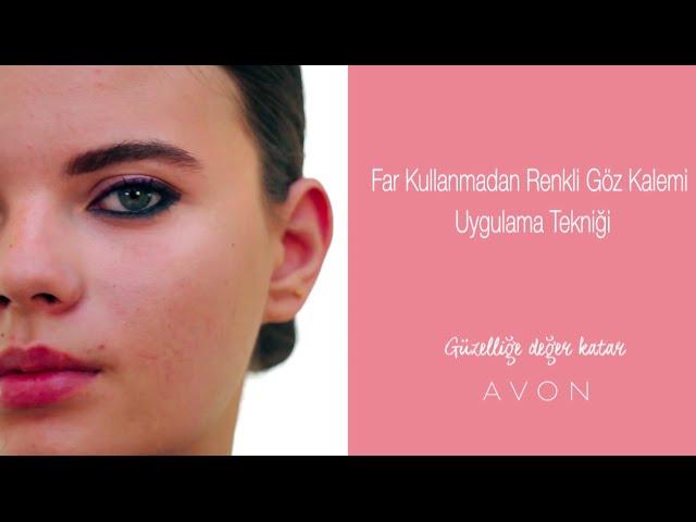Far Kullanmadan Renkli Göz Kalemi Uygulama Tekniği