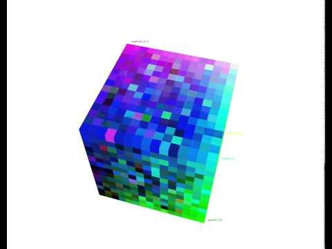 Bubble sort 3D algorithm animation
