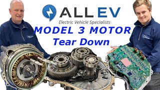 Tesla Model 3 Motor Tear Down - ALL EV