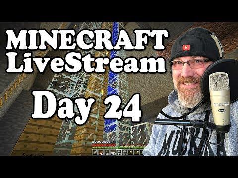 "Minecraft LiveStream Day 24 - ""Building Zombie Free Village"""
