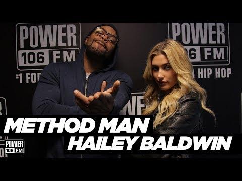 "Method Man & Hailey Baldwin Talk New Rap Battle Series ""Drop The Mic"""