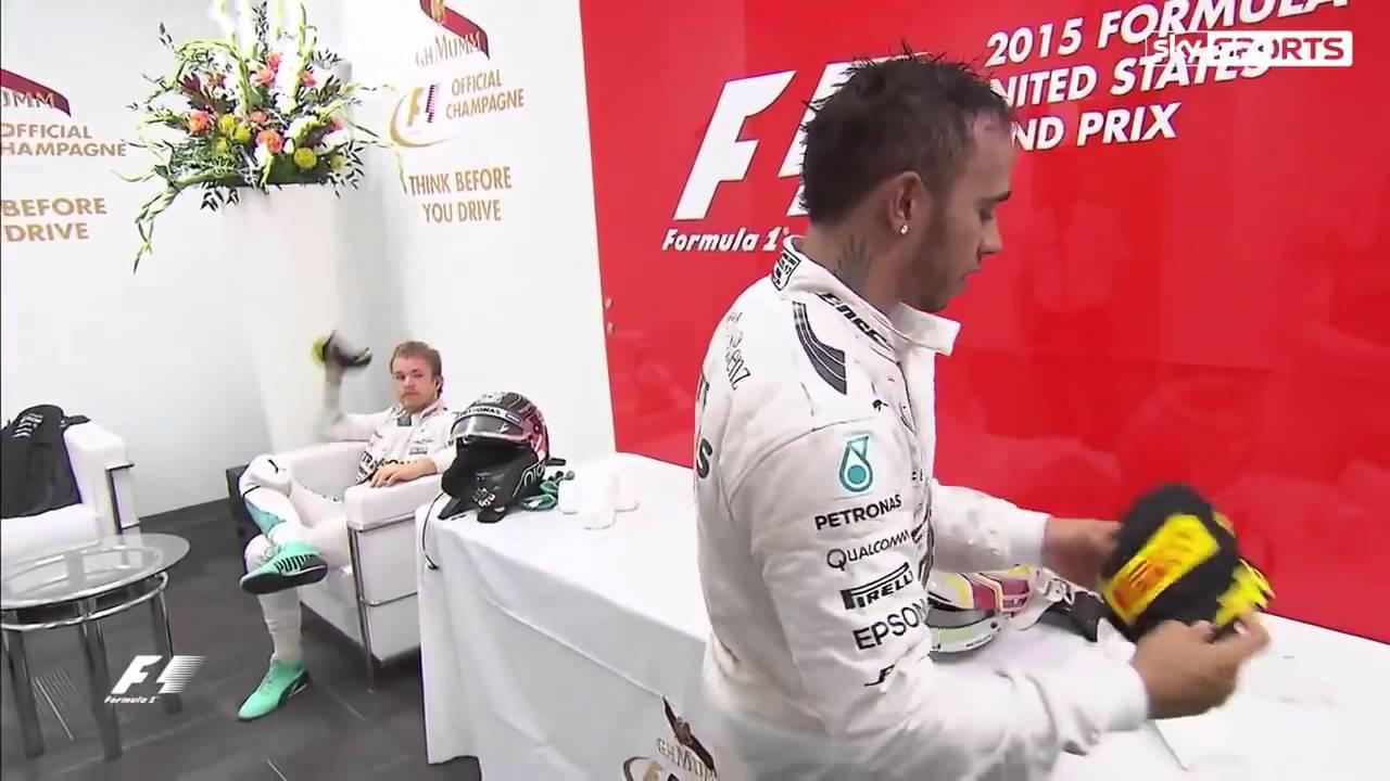Lewis Hamilton throw a cap to Nico Rosberg but he YouTube - YouTube 11c32cae3464