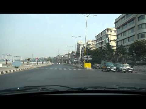 Taxi Ride Queens Necklace Mumbai, India HD
