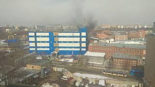 Горит трц Персей в Москве