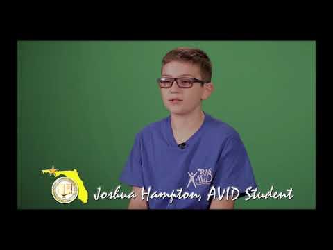 Joshua Hampton- Roulhac Middle School AVID Program Promo Clip 12-19-18