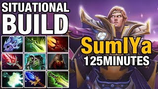 SITUATIONAL BUILD - SumIYa - 125 MINUTES WITH MEGA CREEPS - Dota 2