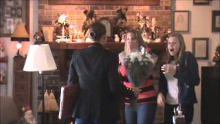 Marine Surprises Mom and Sister for Christmas