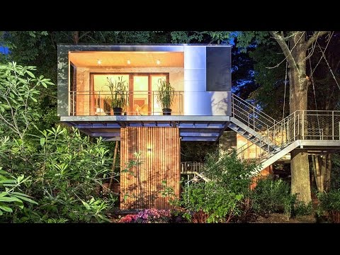 A  treehouses in Berlin  designed by architect Andreas Wenning