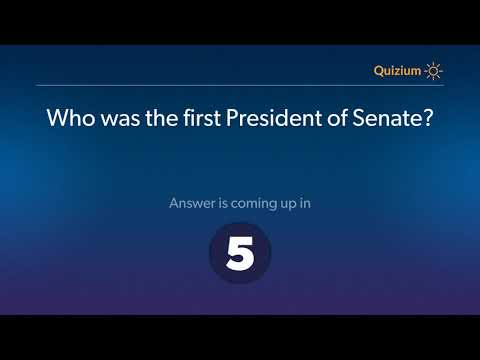 Who was the first President of Senate?   Trinidad and Tobago Quiz