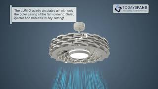LUMIO Bladeless Ceiling Fan with Dimmable LED Light - Revolutionary Technology!