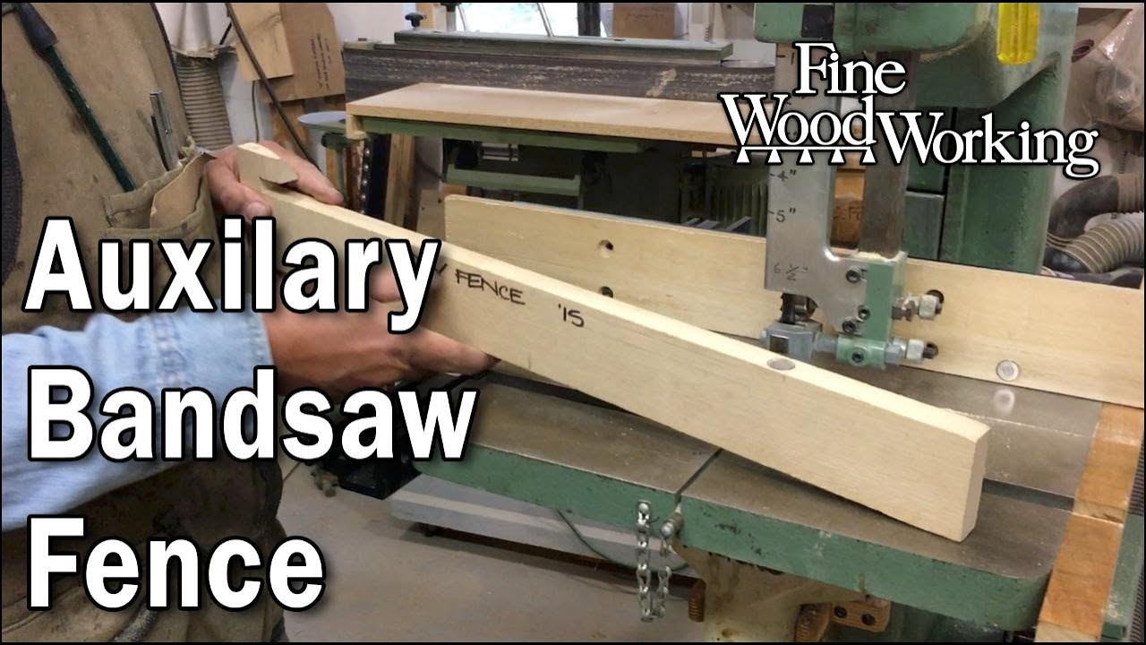 michael fortune's auxiliary bandsaw fence