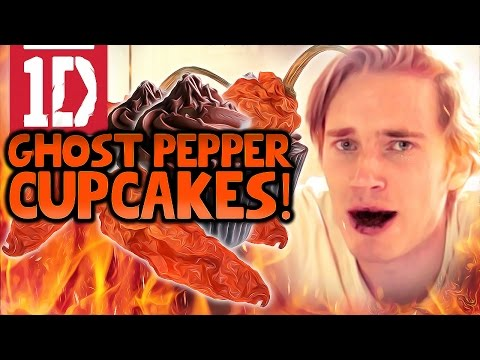 Thumbnail: ONE DIRECTION GHOST PEPPER CHALLENGE CUPCAKES!