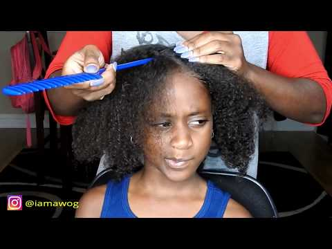 2D Twist w/beads | Kids Natural Hairstyles | IAMAWOG thumbnail