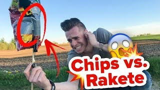 EXPERIMENT CHIPS vs. RAKETE - MEGA EXPLOSION ! || Flowest