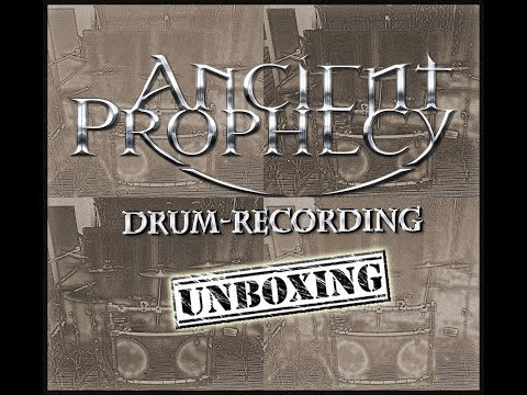 Ancient Prophecy - Drum Recording Days, unboxing the drum-kit!