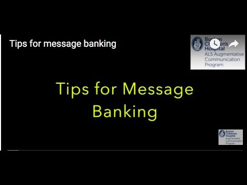 Tips for message banking