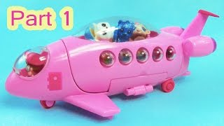 LPS Squinkies Jet Party Airplane Littlest Pet Shop Teensies Part 1 Of 2 Video Series Cookieswirlc