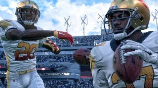 INSANE LATERAL TOUCHDOWN WHILE RETURNING INT! Madden 18 Ultimate Team Gameplay