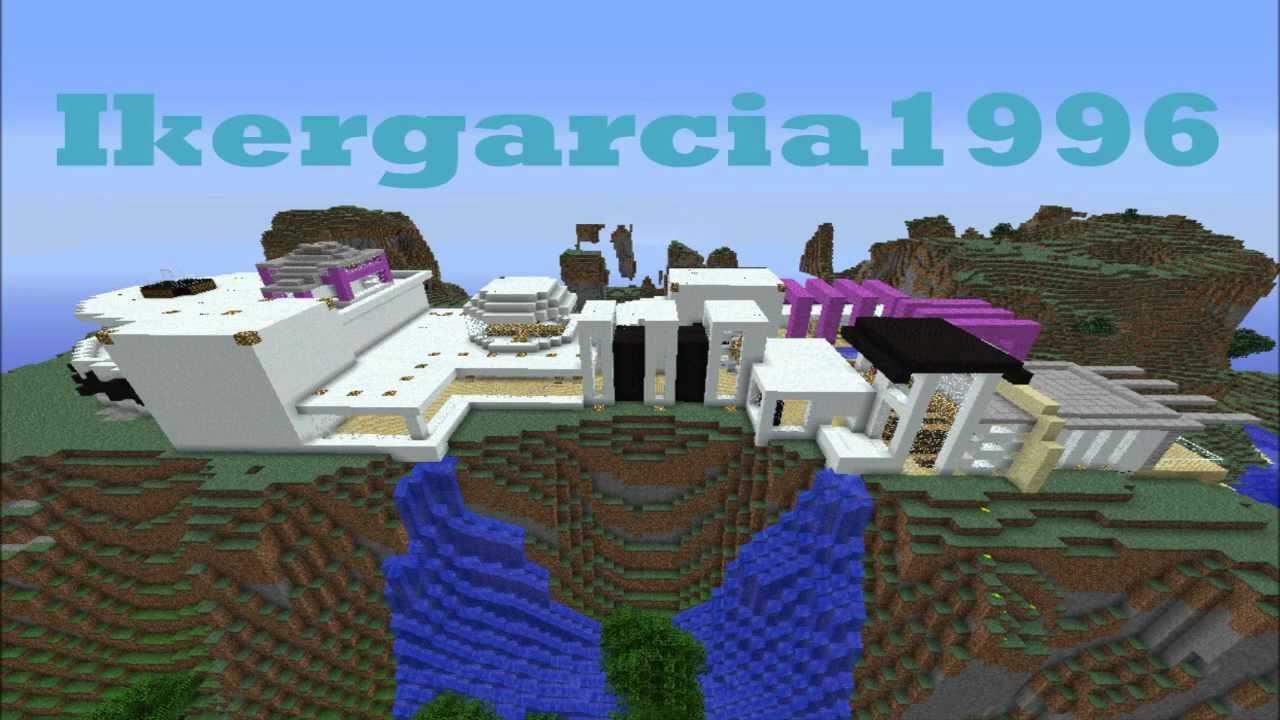Minecraft casa moderna modern house descarga for Casa moderna en la montana