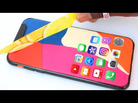 Iphone X Play Doh DIY How To Make Apple Iphone With Doh #1