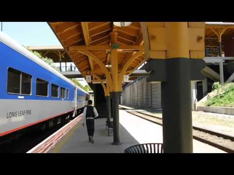 High Point NC Amtrak Piedmont Train At Station