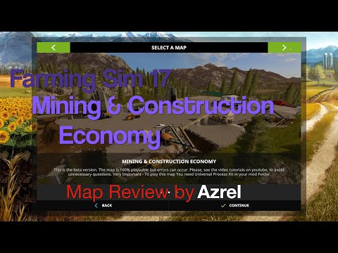Farming Simulator 17 - Mining & Construction Economy - Map Walkthrough