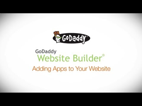 GoDaddy How-to - Adding Business Apps to Your Website Builder Site