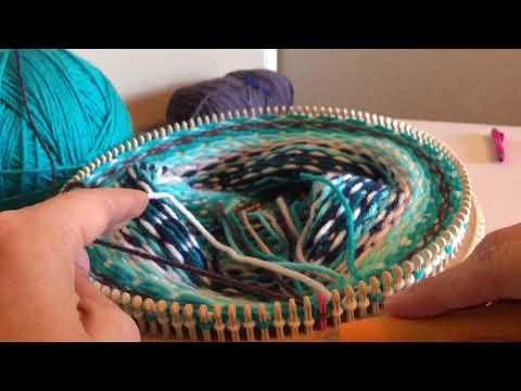 Loom Knit Fair Isle - YouTube