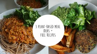 MEAL IDEAS + FULL RECIPES | PLANT-BASED